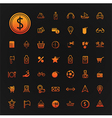 46 icons shopping and travel set vector