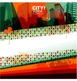 Abstract city design banner vector