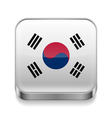 Metal icon of south korea vector
