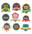 Collection labels and ribbons vector