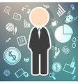 Salary icons theme on retina background vector