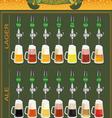 Beer menu set creating your own infographics vector