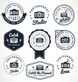 Photography badges and labels in vintage style vector