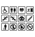 Black public icons vector