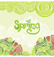 Spring nature pattern green background vector
