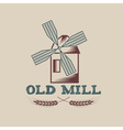 Old mill design template vector