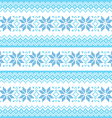 Winter christmas blue seamless pixelated pattern vector