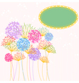 Colorful hydrangea flower garden party vector