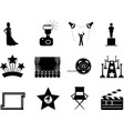 Movie and oscar symbol icons vector