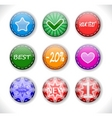 Set of discount sale badges vector