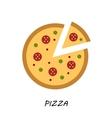 Pizza icon minimal design tasty pizza slices vector