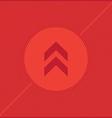 Arrow red background vector
