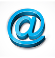 Blue at email sign vector