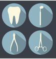 Dental theme flat icons vector