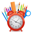 Time to school concept vector