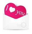 Open envelope with hearts vector
