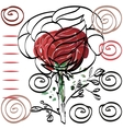 Nothing significant contour drawing rose card for vector