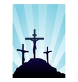 Jesus on the cross vector