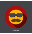 Emotion flat icon on gray background vector