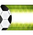 Soccer ball on green background poster design with vector