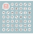 Tools and travel icon set on blue paper vector