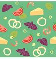 Pizza seafood pizza ai frutti di mare ingredients vector