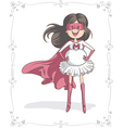 Supermom character and card design vector