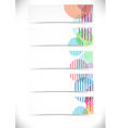 Bright retro circles cards templates set vector