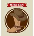 Western banner vector