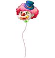 A colourful clown balloon vector