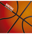 Basketball ball pattern vector