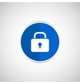 Blue lock icon with protection key password vector