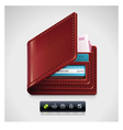 Leather wallet vector
