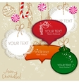 Colorful little notes with space for text christma vector