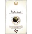 Coffee break background vector