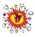 Comic book explosion present vector