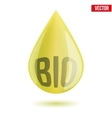 Shiny olive oil drop isolated on white background vector