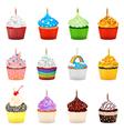 Cupcakes collection set vector