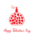 Perfume with hearts inside happy valentines day vector