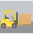 Machine for loading loads box vector