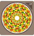 Abstract circular decorative ornament vector