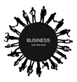 Frame with business people vector