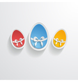 Easter greeting vector