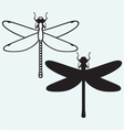 Dragonfly anax imperator vector