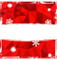 Red triangle grunge christmas background with vector