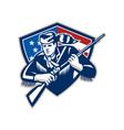 American frontiersman patriot stars stripes flag vector