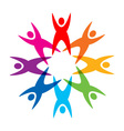 Star of colorful people pictogram vector