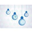 Snowflakes crystal bulb vector
