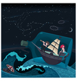 Travel in the night vector