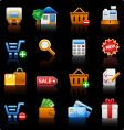 Shopping black background vector